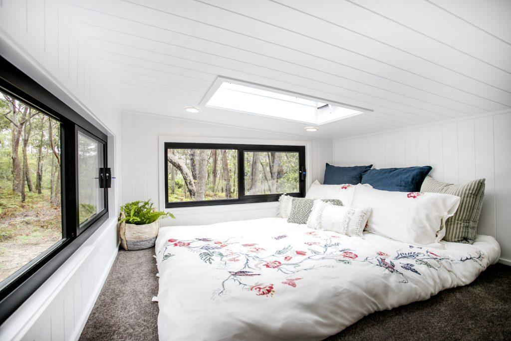 couvaras architects tiny house interior loft bedroom