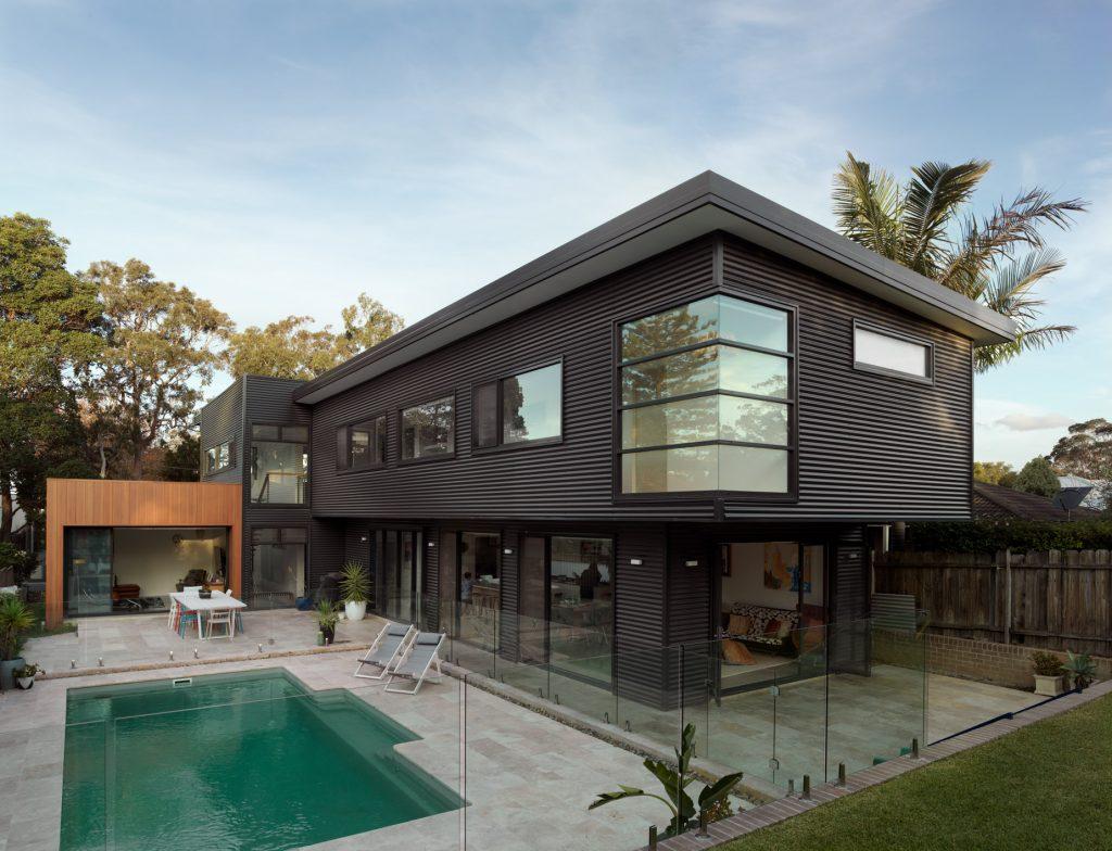 couvaras architects house exterior pool