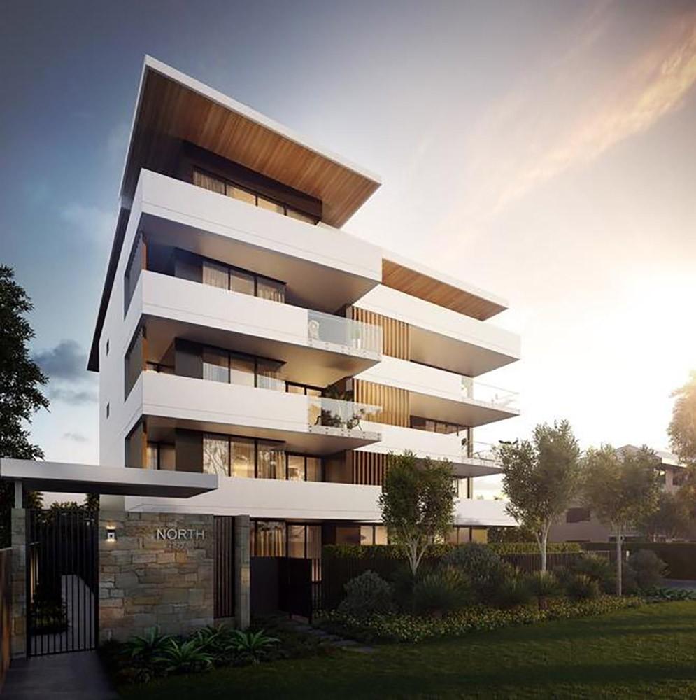 couvaras architects apartments exterior render